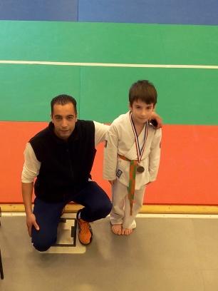 Arthur et Kamel Benmiloudi son professeur